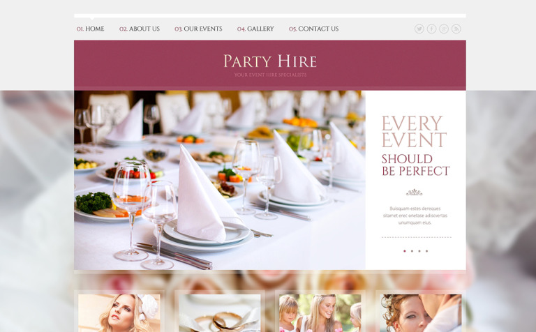 Event Planner Responsive Website Template