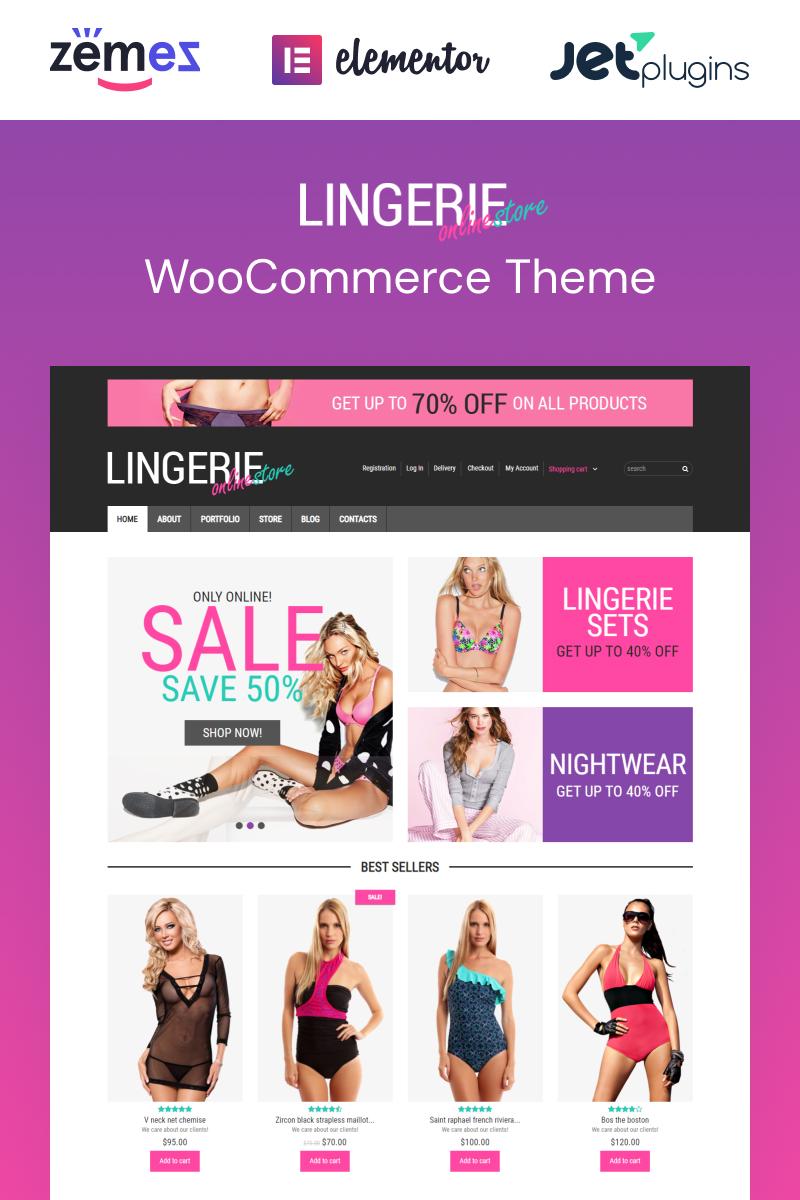 """""""Feminine Lingerie"""" 响应式WooCommerce模板 #49298"""