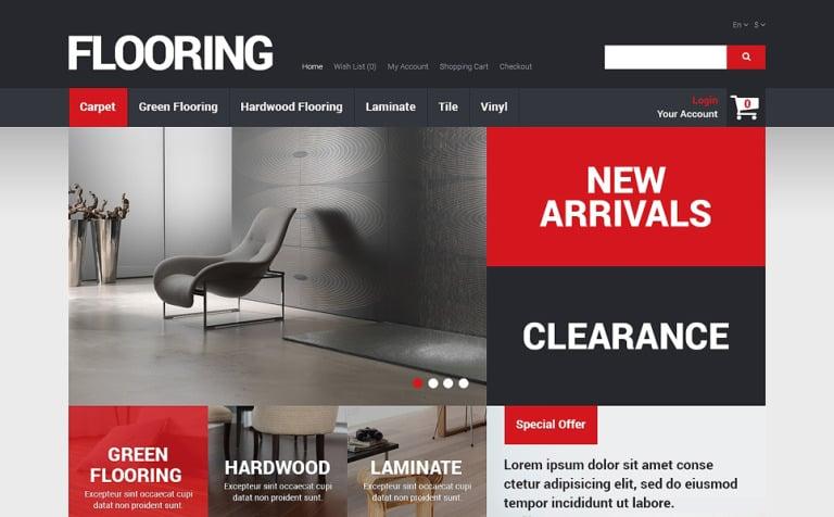 Flooring Store OpenCart Template
