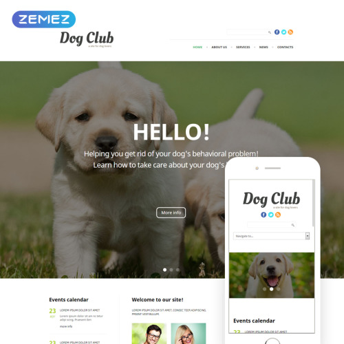 Dog Club - Joomla! Template based on Bootstrap