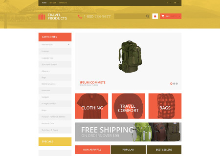 Free Travel Store Prestashop