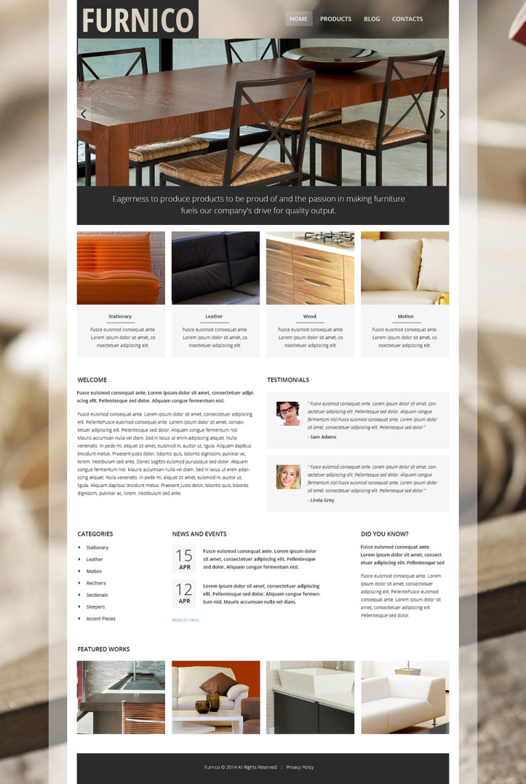 Furnico Joomla Template New Screenshots BIG