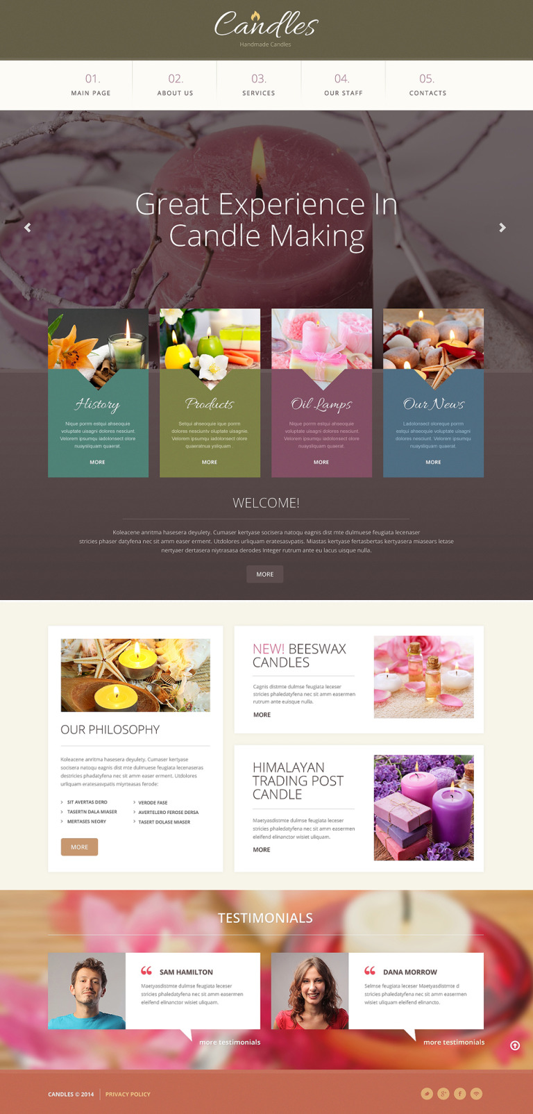 Gifts Responsive Website Template New Screenshots BIG