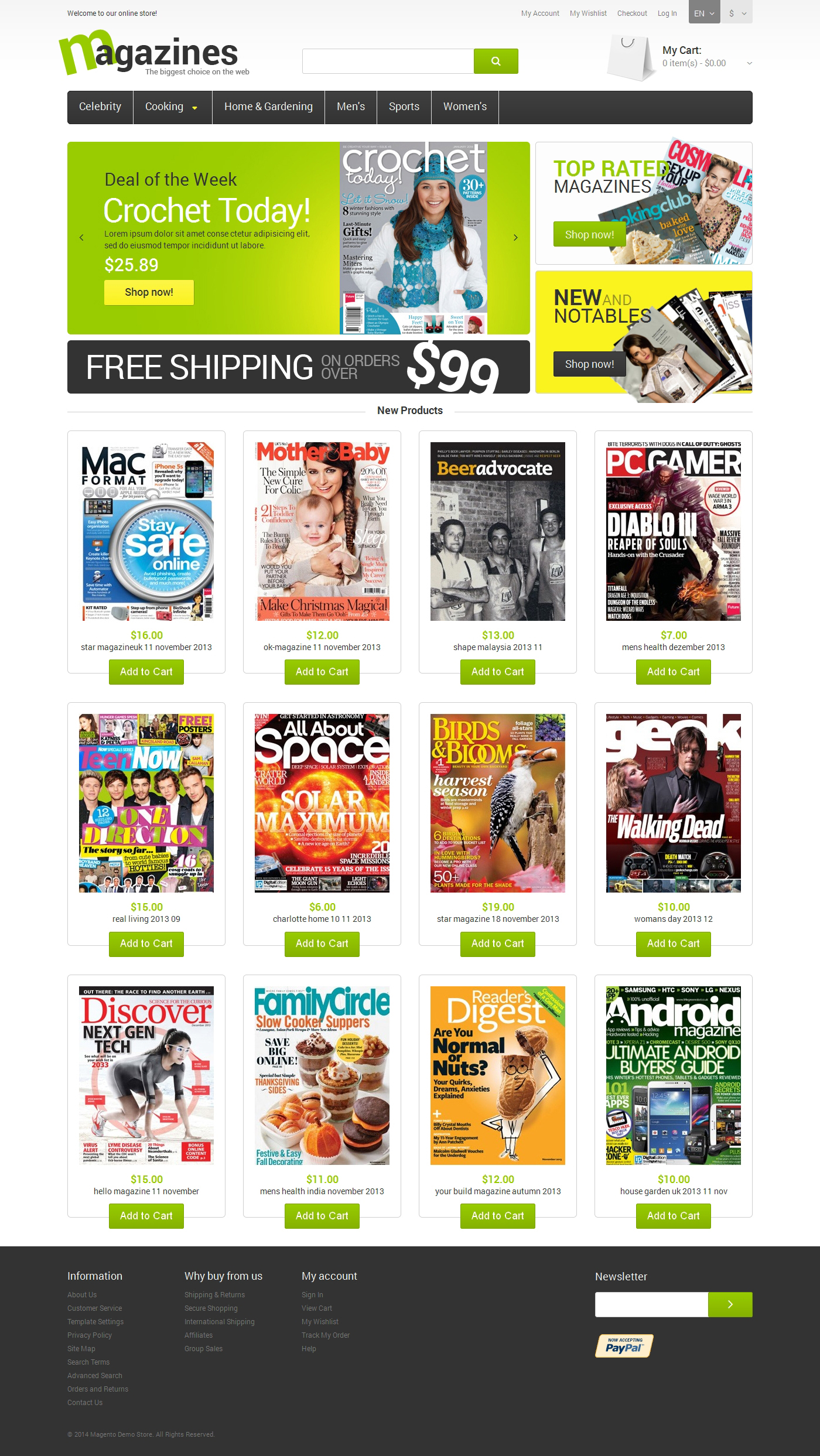 Glossy Magazines Magento Theme - screenshot