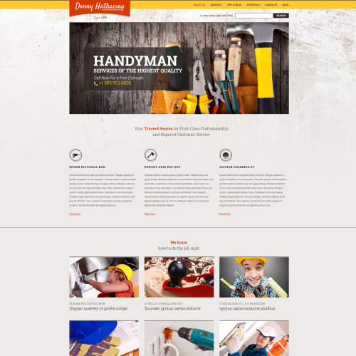 Donny Hathaway - HTML5 Drupal Template