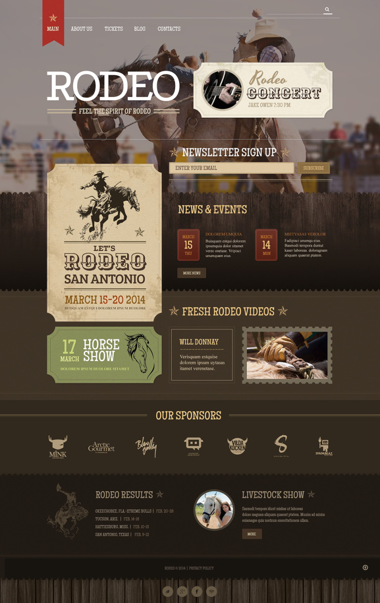 Horse Racing Responsive WordPress Theme New Screenshots BIG