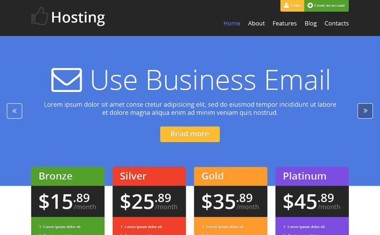 Hosting Facilities WordPress Theme
