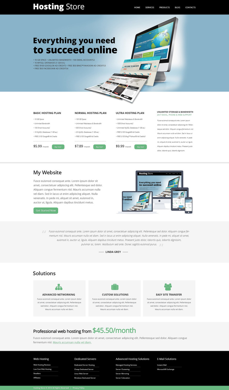 Hosting Store Joomla Template New Screenshots BIG