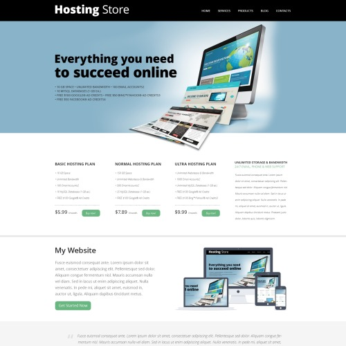 Hosting Store - Joomla! Template based on Bootstrap