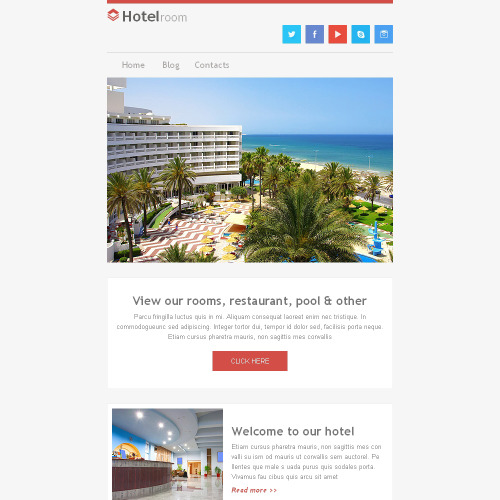Hotel Room - Responsive Newsletter Template