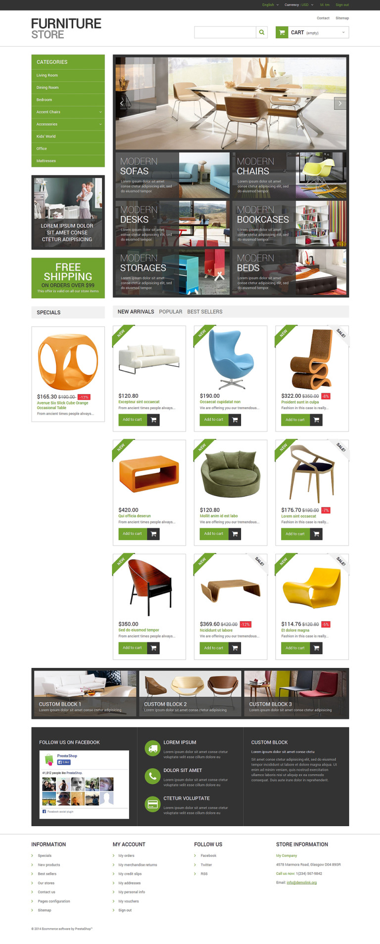 Interior Furniture Store PrestaShop Theme New Screenshots BIG