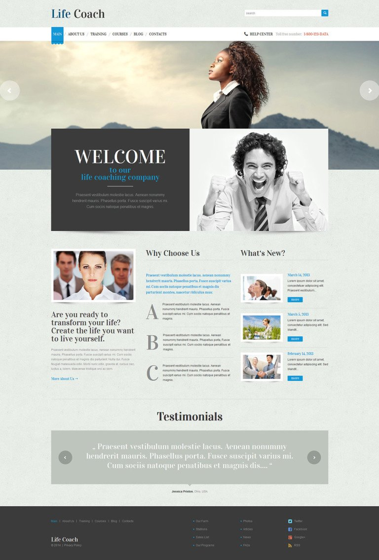 Life Coach Responsive WordPress Theme New Screenshots BIG