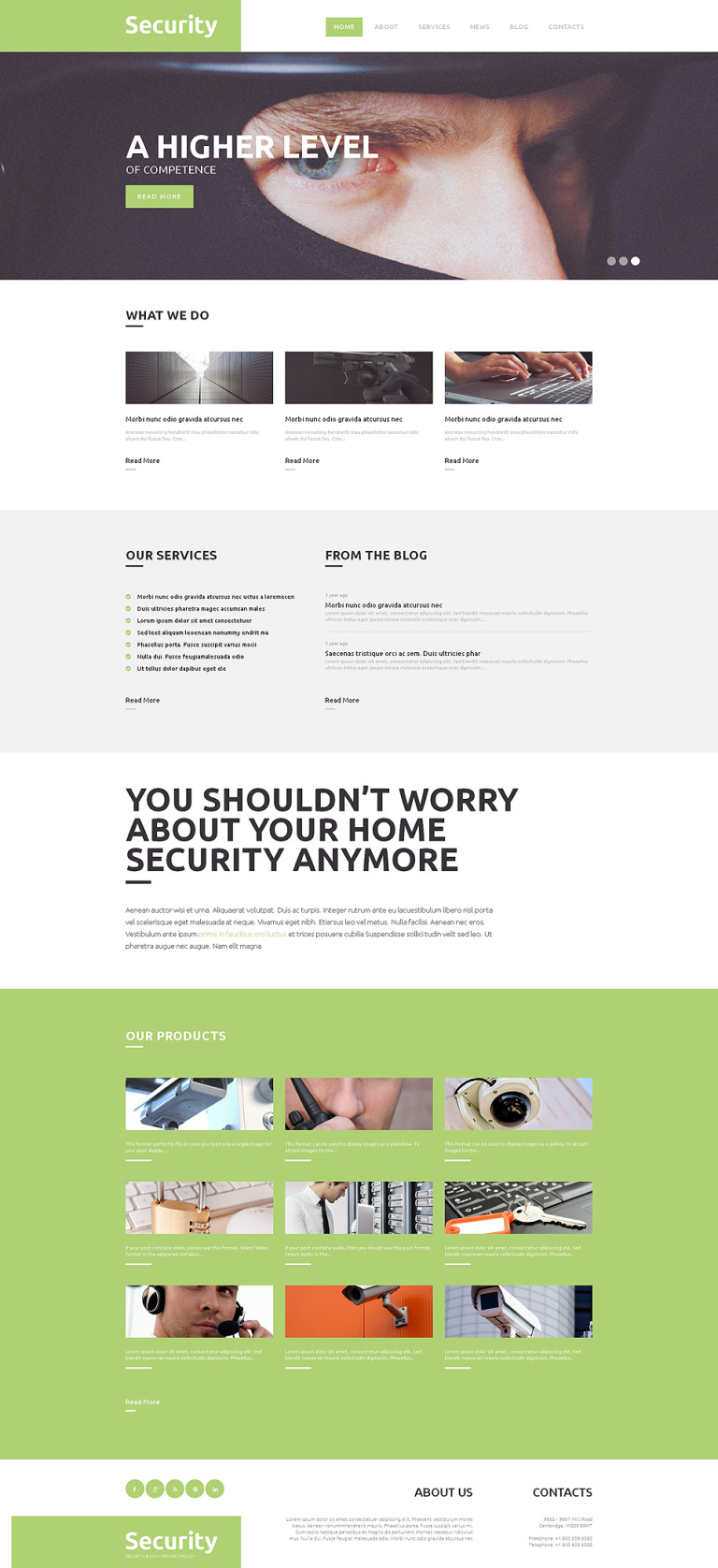 Locksmith Responsive WordPress Theme New Screenshots BIG