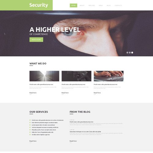 Security   - WordPress Template based on Bootstrap