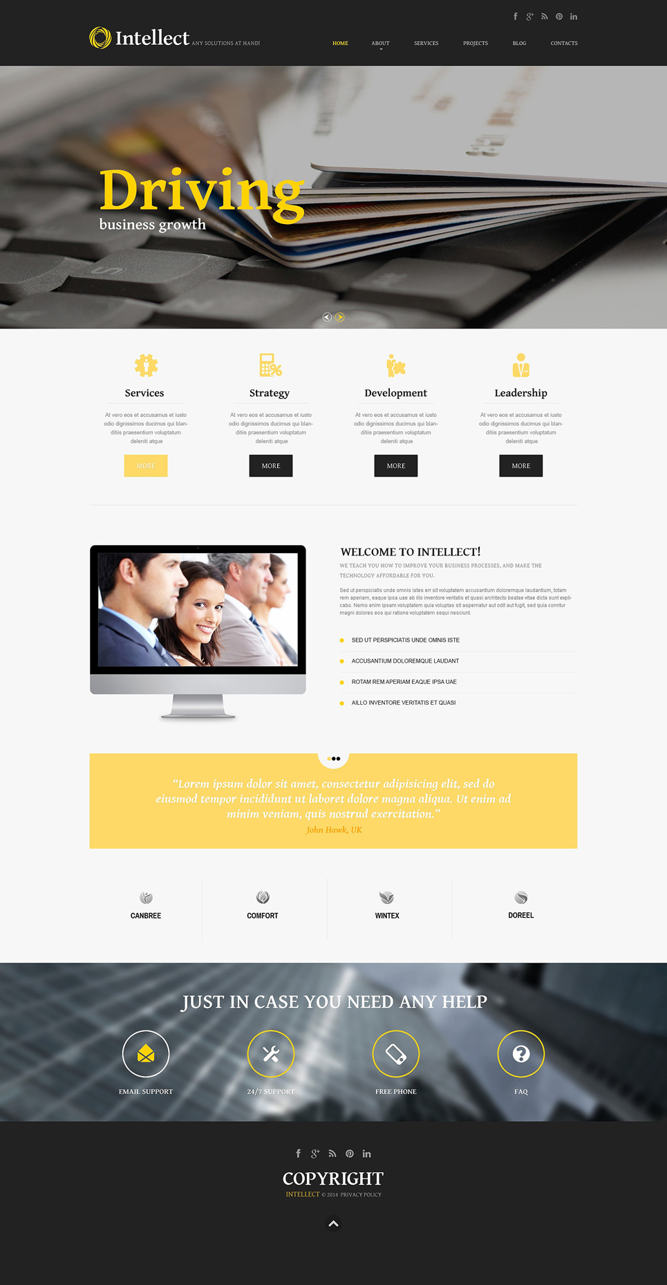 joomla template builder software - management company responsive joomla template 49217