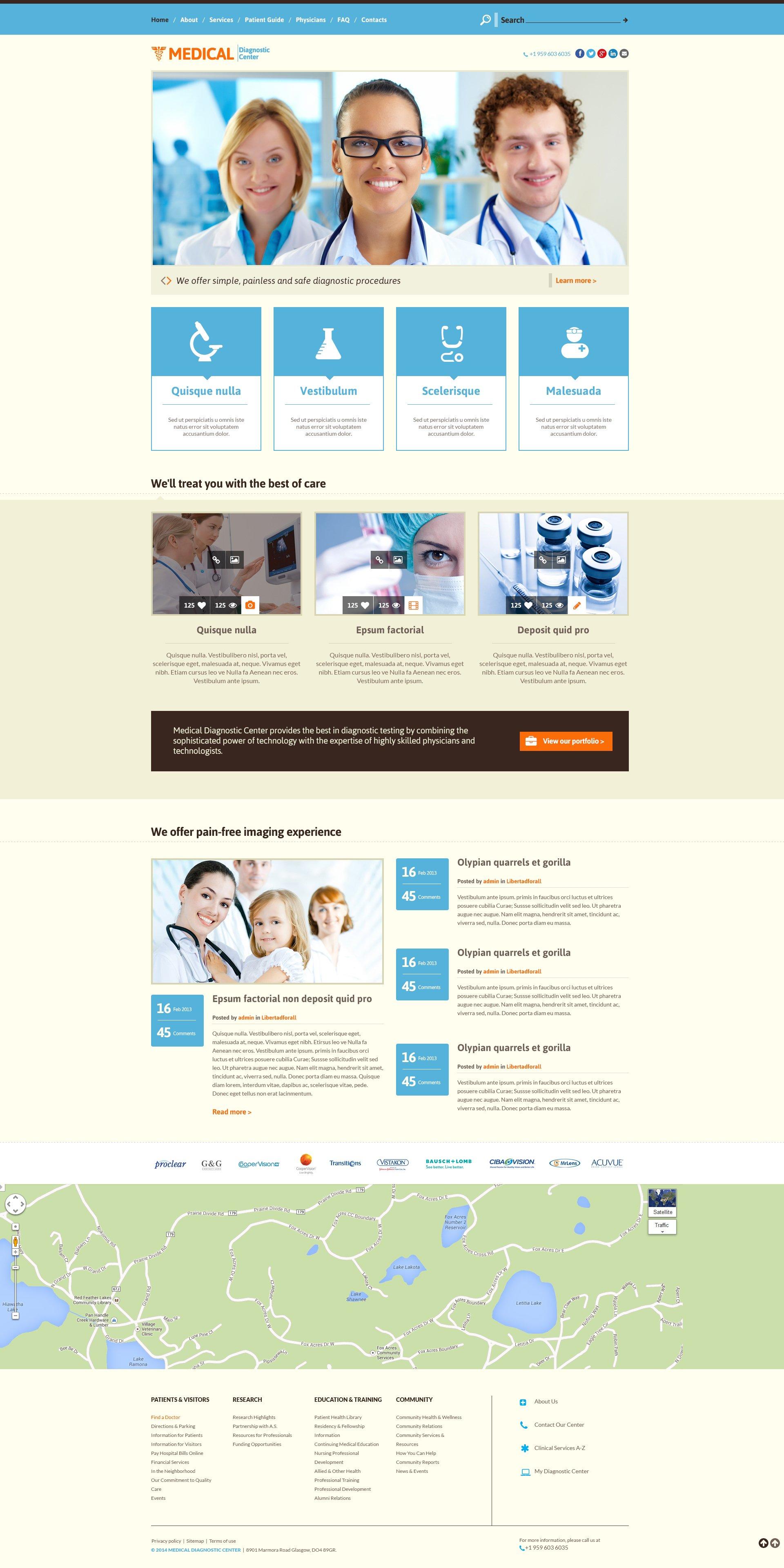 Medical Responsive Website Template - screenshot