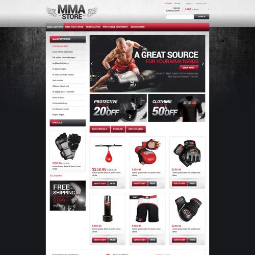 MMA Store - PrestaShop Template based on Bootstrap
