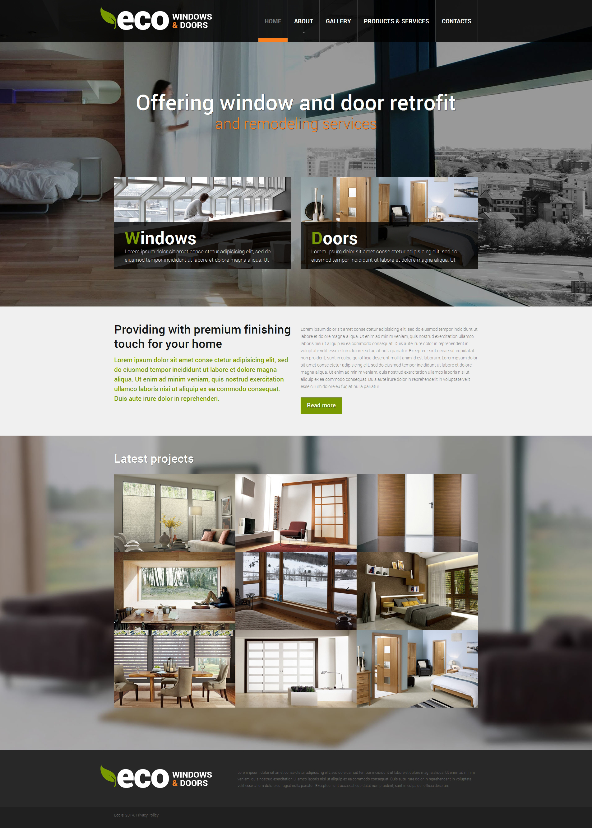 Modèle Web adaptatif pour site d'entreprises de fenêtres #49272 - screenshot