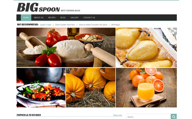 modello wordpress responsive 49250 per un sito di cucina new screenshots big