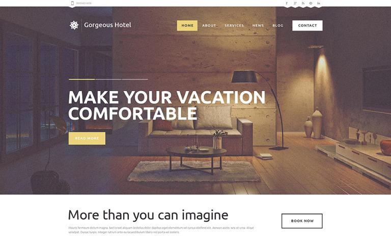 Motel Responsive WordPress Theme #49248