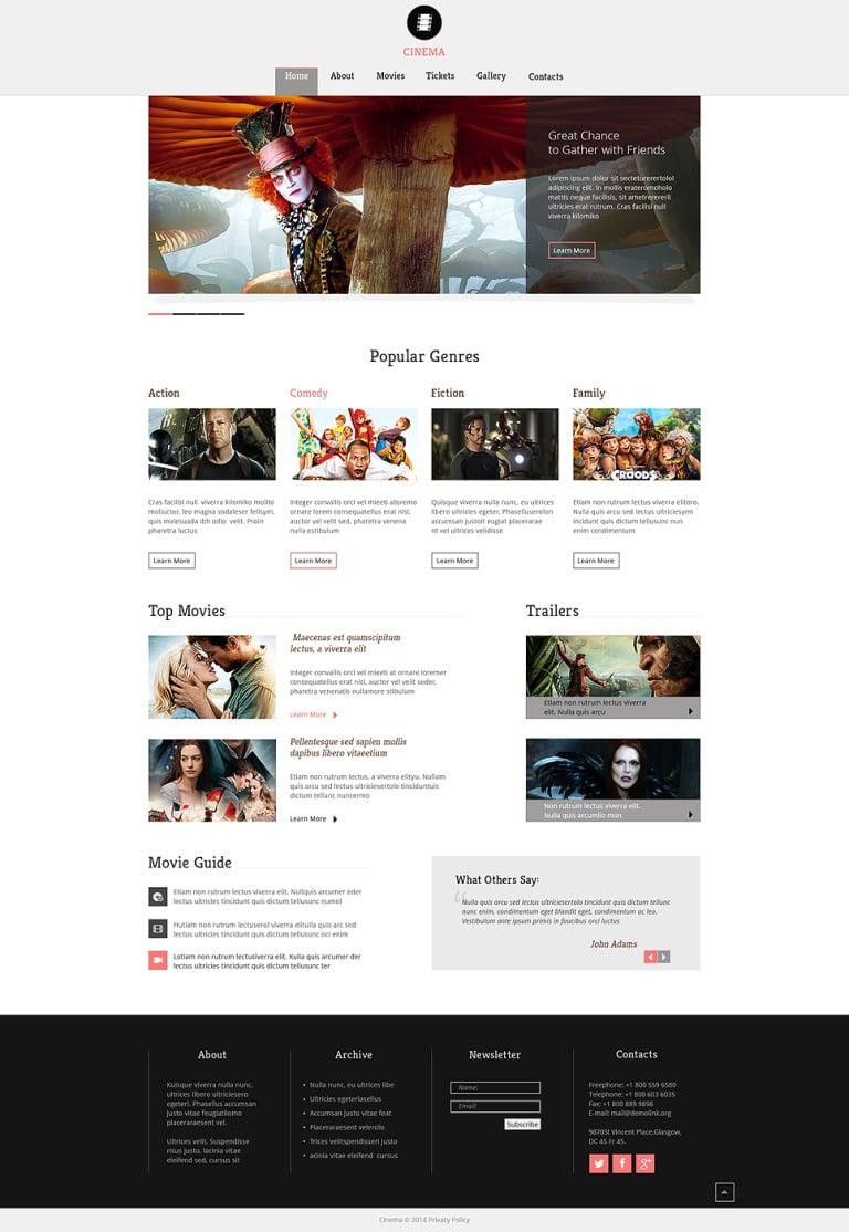 Movie Responsive Website Template New Screenshots BIG