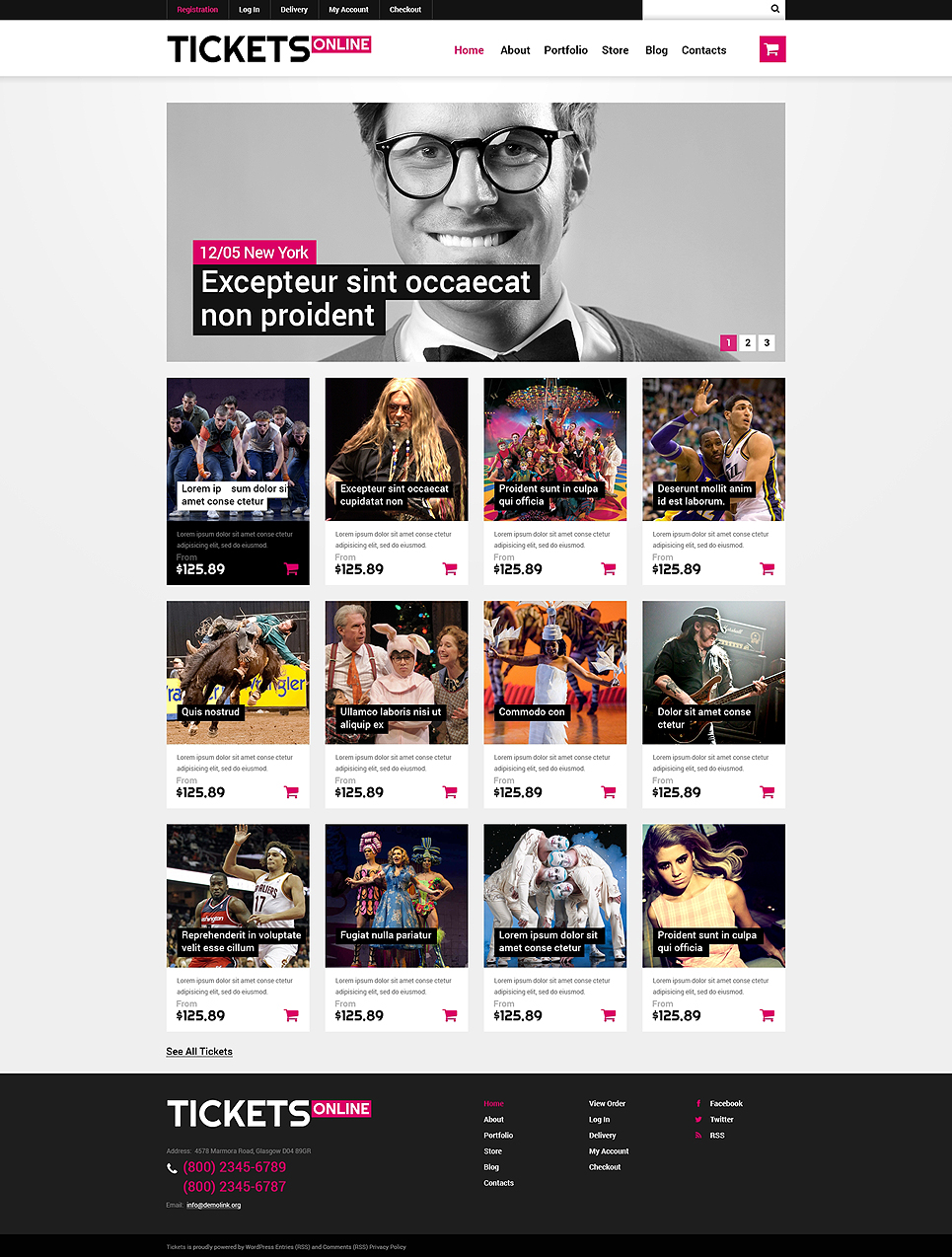 online tickets woocommerce theme 49232