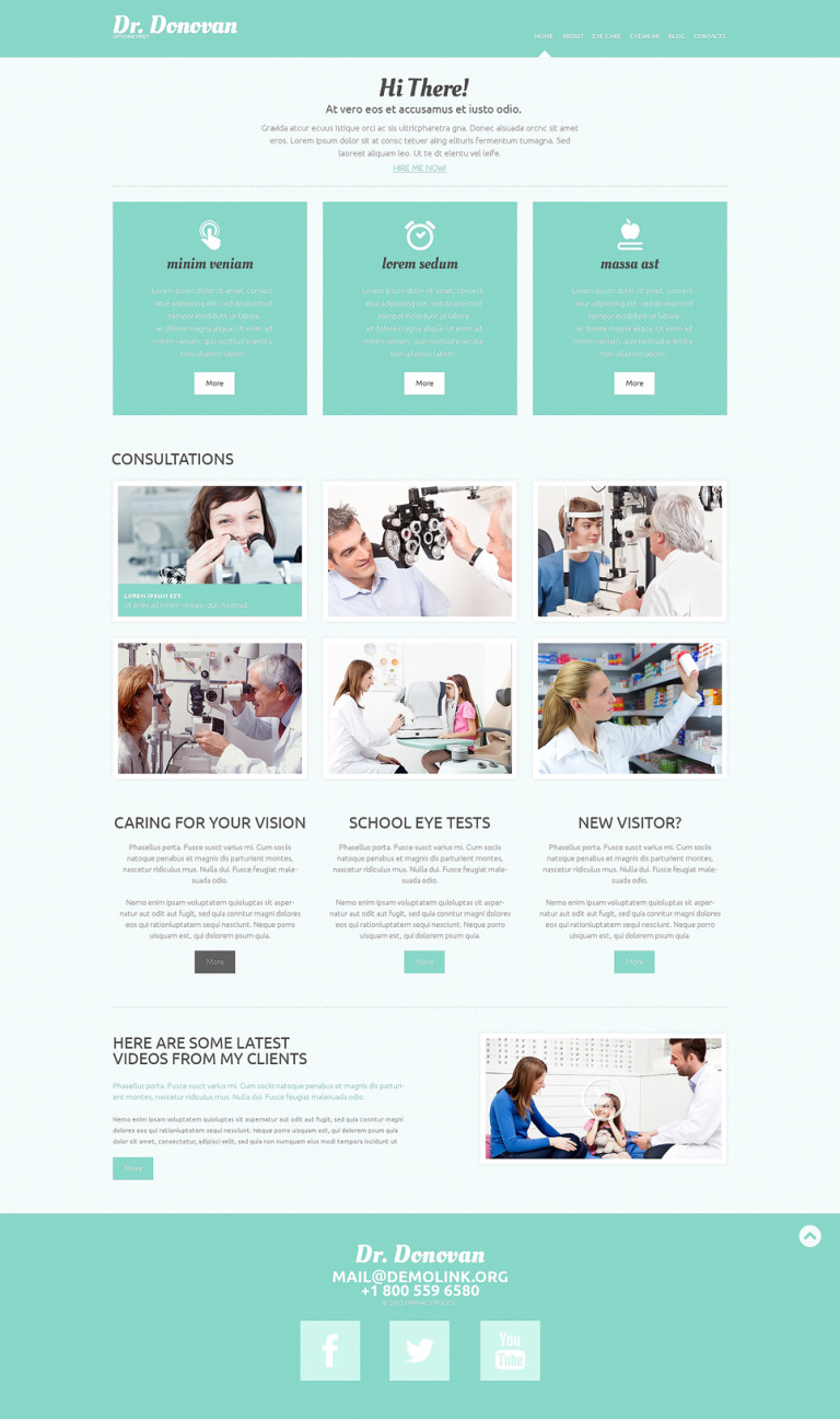 Optometrist's Responsive WordPress Theme New Screenshots BIG