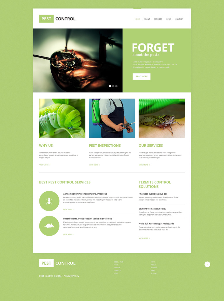 Pest Control Responsive Website Template New Screenshots BIG