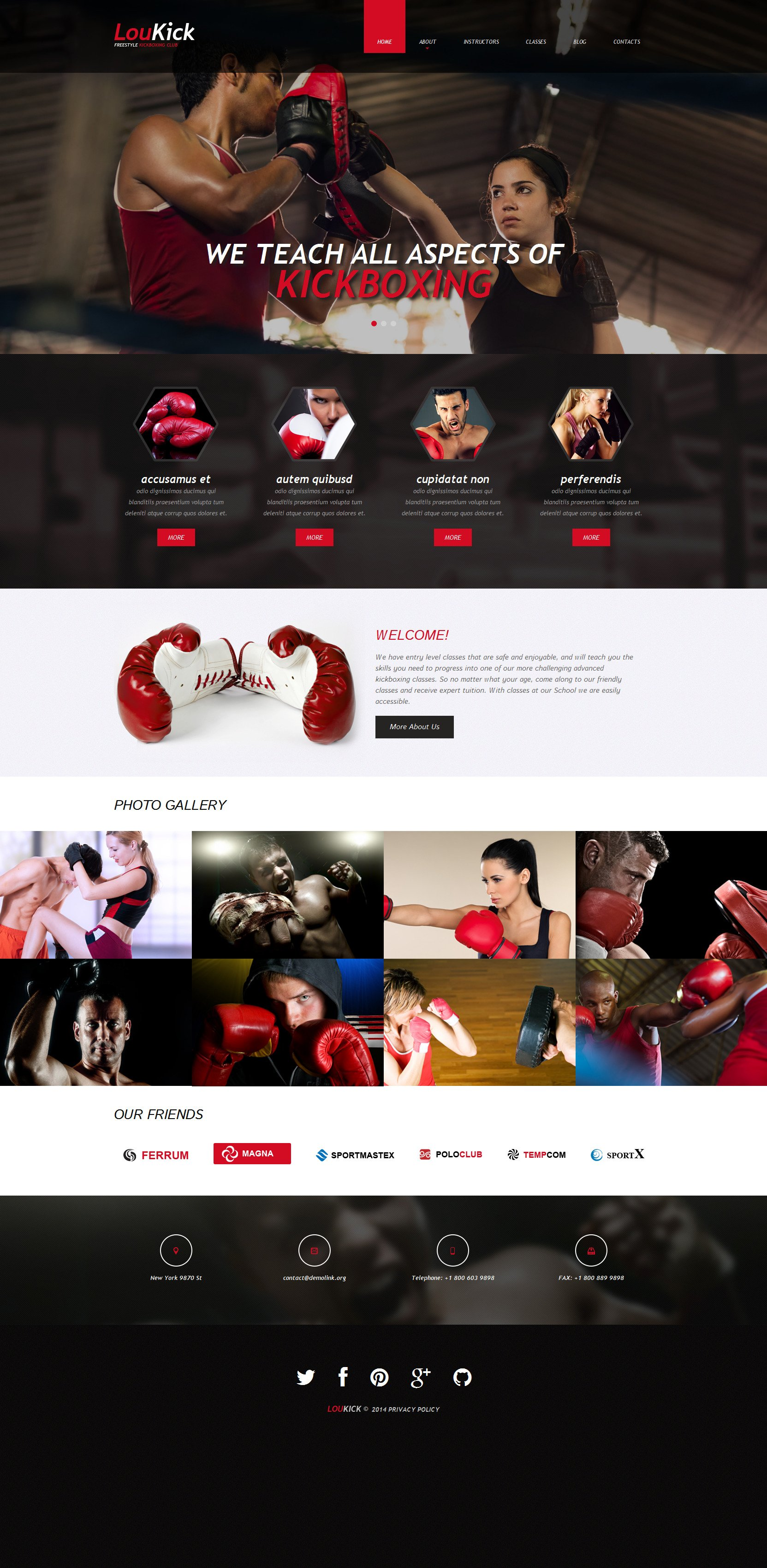 Plantilla Web Responsive para Sitio de Boxeo #49263