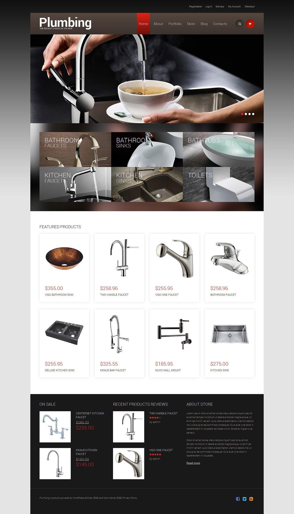 Plumbing Responsive WooCommerce Theme New Screenshots BIG