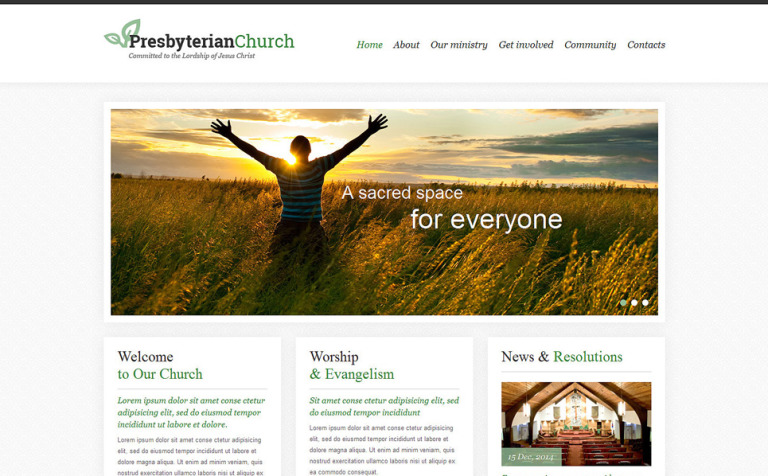 Presbyterian Responsive Website Template