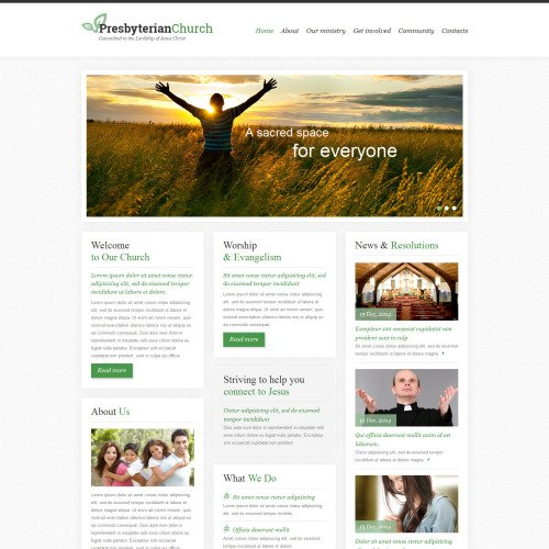Presbyterian Church - Responsive Website Template