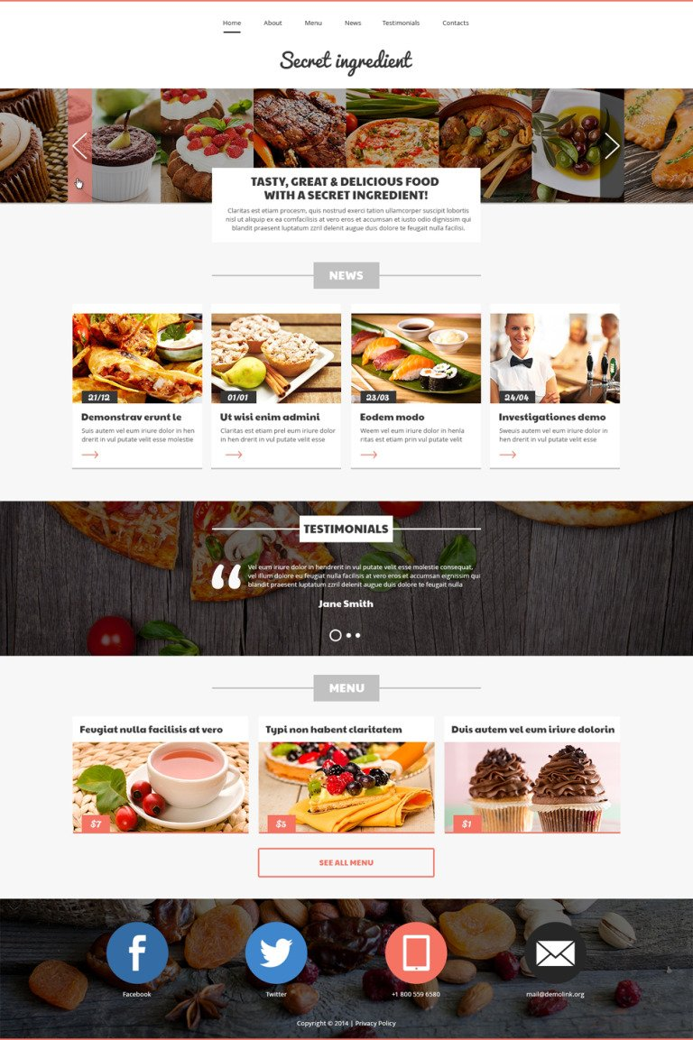 Refined Cuisine Restaurant Joomla Template New Screenshots BIG