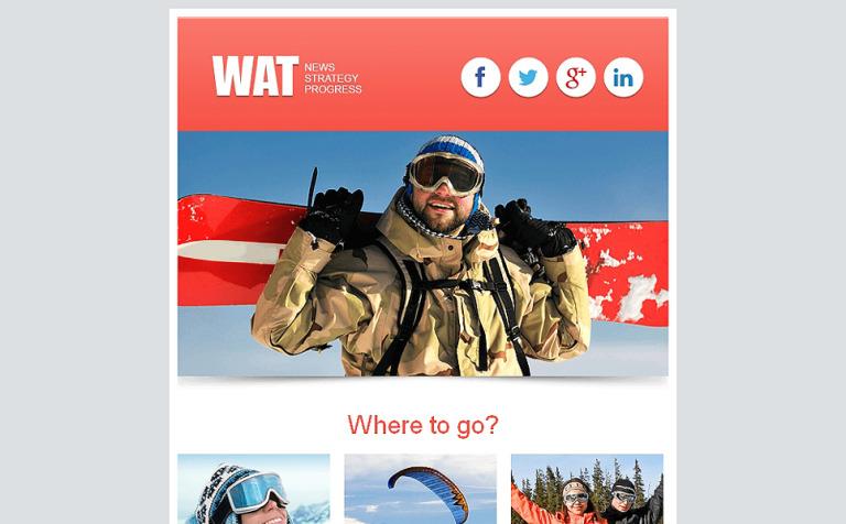 Responsive Newsletter Vorlage Fur Sportnachrichten New Screenshots BIG