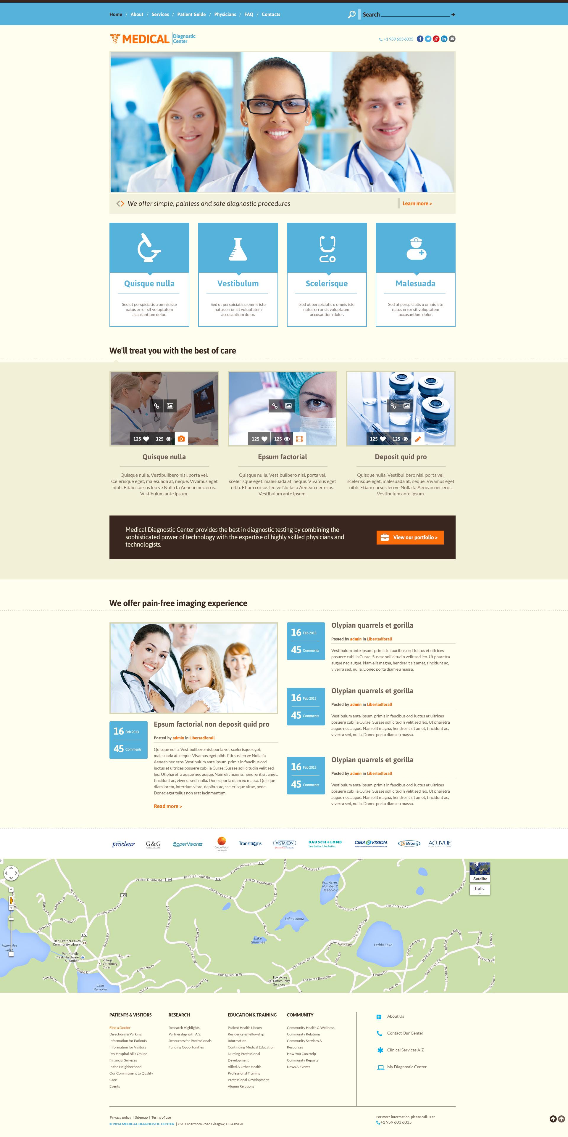Responsive Website Vorlage für Medizin #49275 - Screenshot