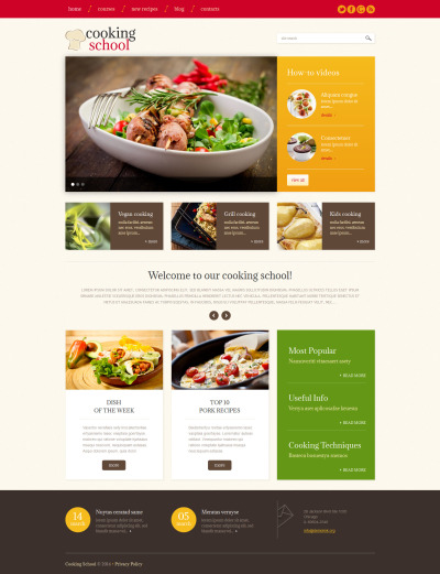Cooking School Responsive WordPress Thema