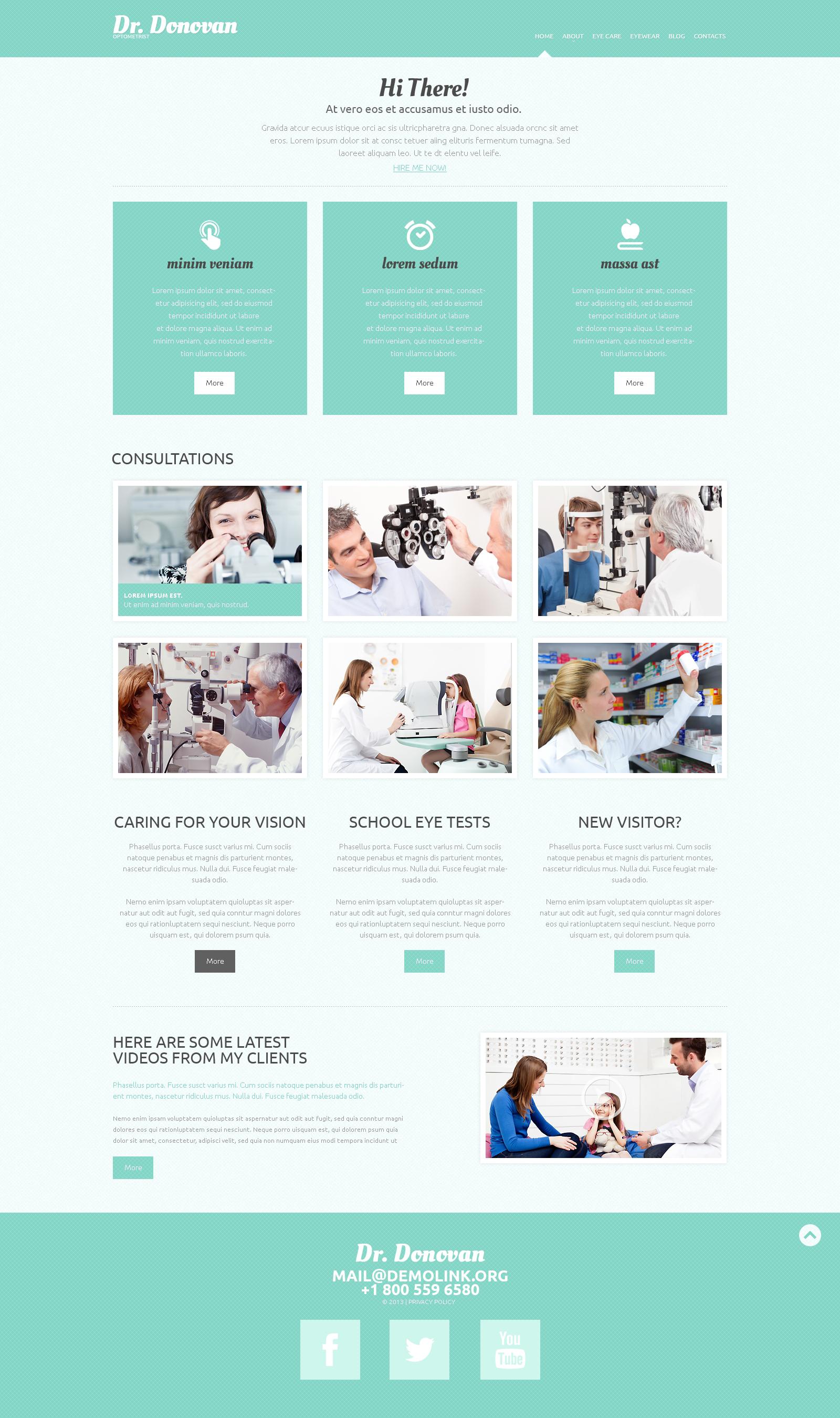 Responsive WordPress thema over Optometrist №49289