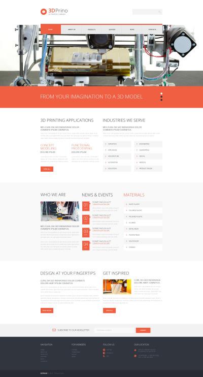 Responsives WordPress Theme für Druckerei