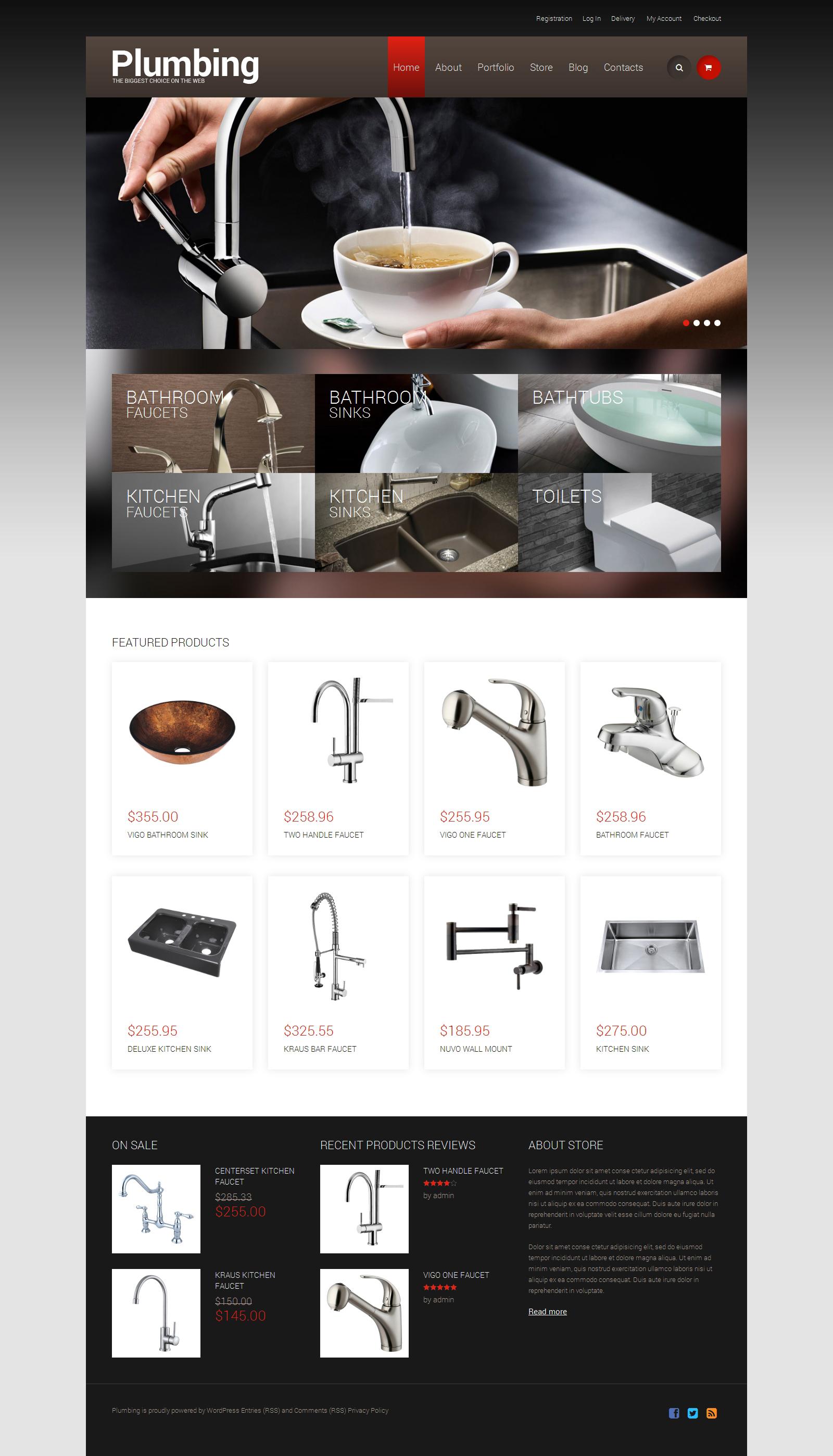 Responsywny motyw WooCommerce #49243 na temat: instalacje wodociągowe