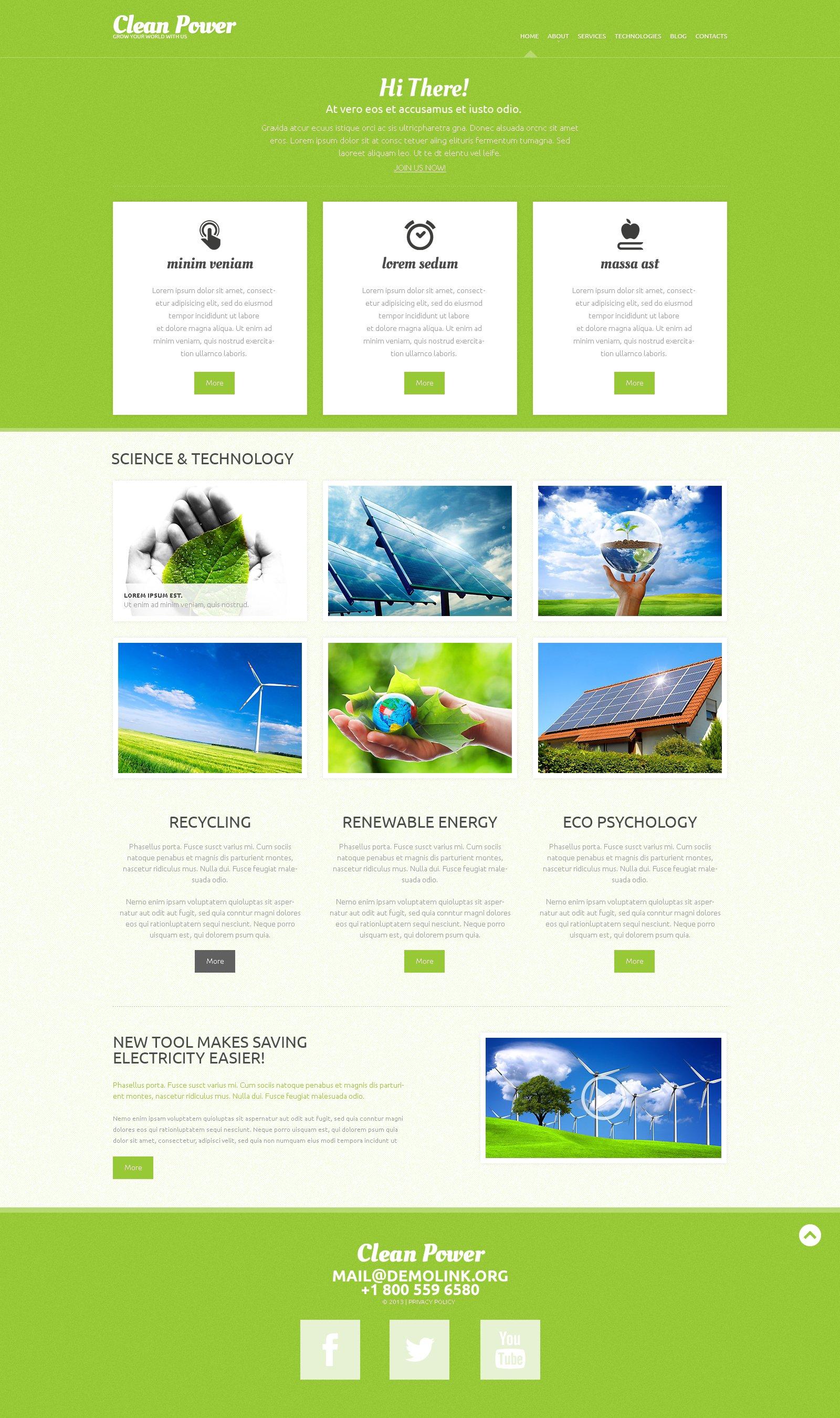Responsywny motyw WordPress #49290 na temat: energia alternatywna - zrzut ekranu