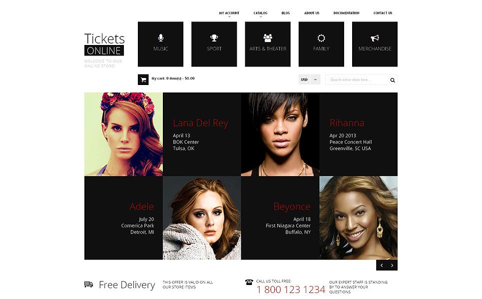 Responsywny szablon Shopify #49252 na temat: strona z biletami New Screenshots BIG
