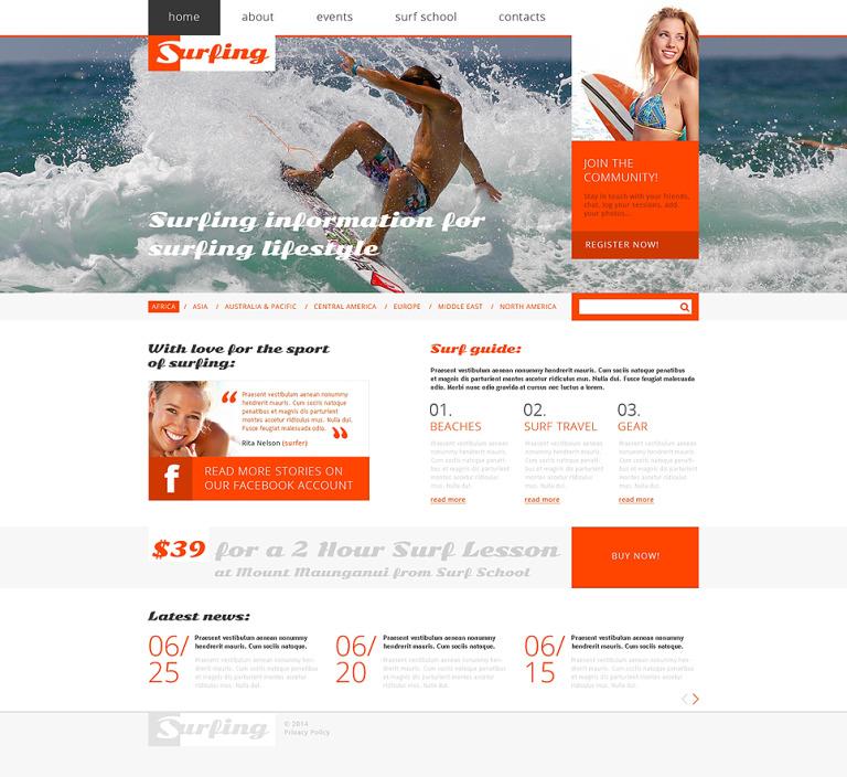Surfing Responsive Website Template New Screenshots BIG