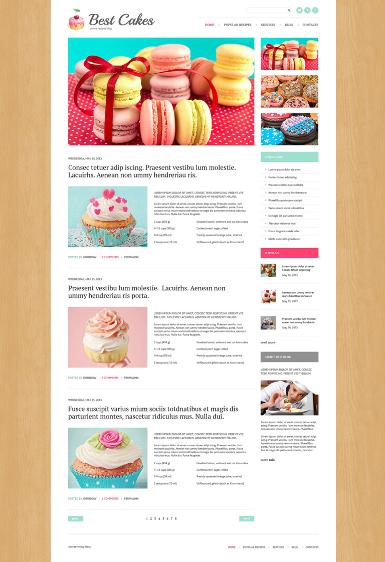 Sweet Shop Responsive WordPress Theme New Screenshots BIG
