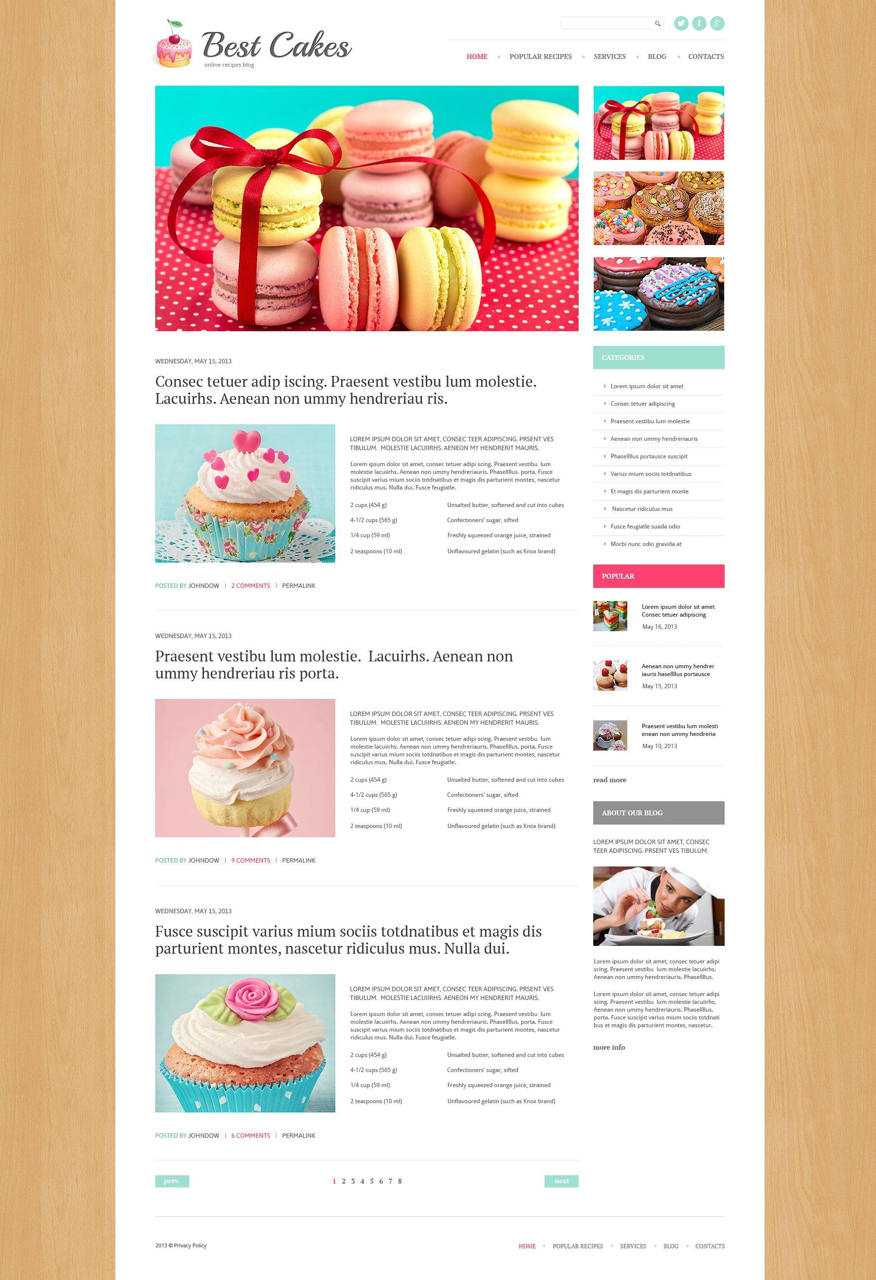 Sweet Shop Responsive WordPress Theme - screenshot