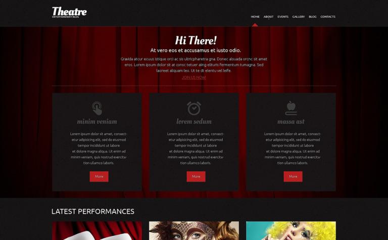 Tema de WordPress #49288 para Sitio de Teatro