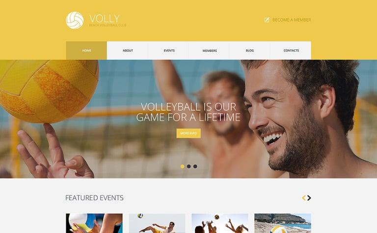 Tema de WordPress #49281 para Sitio de Voleibol
