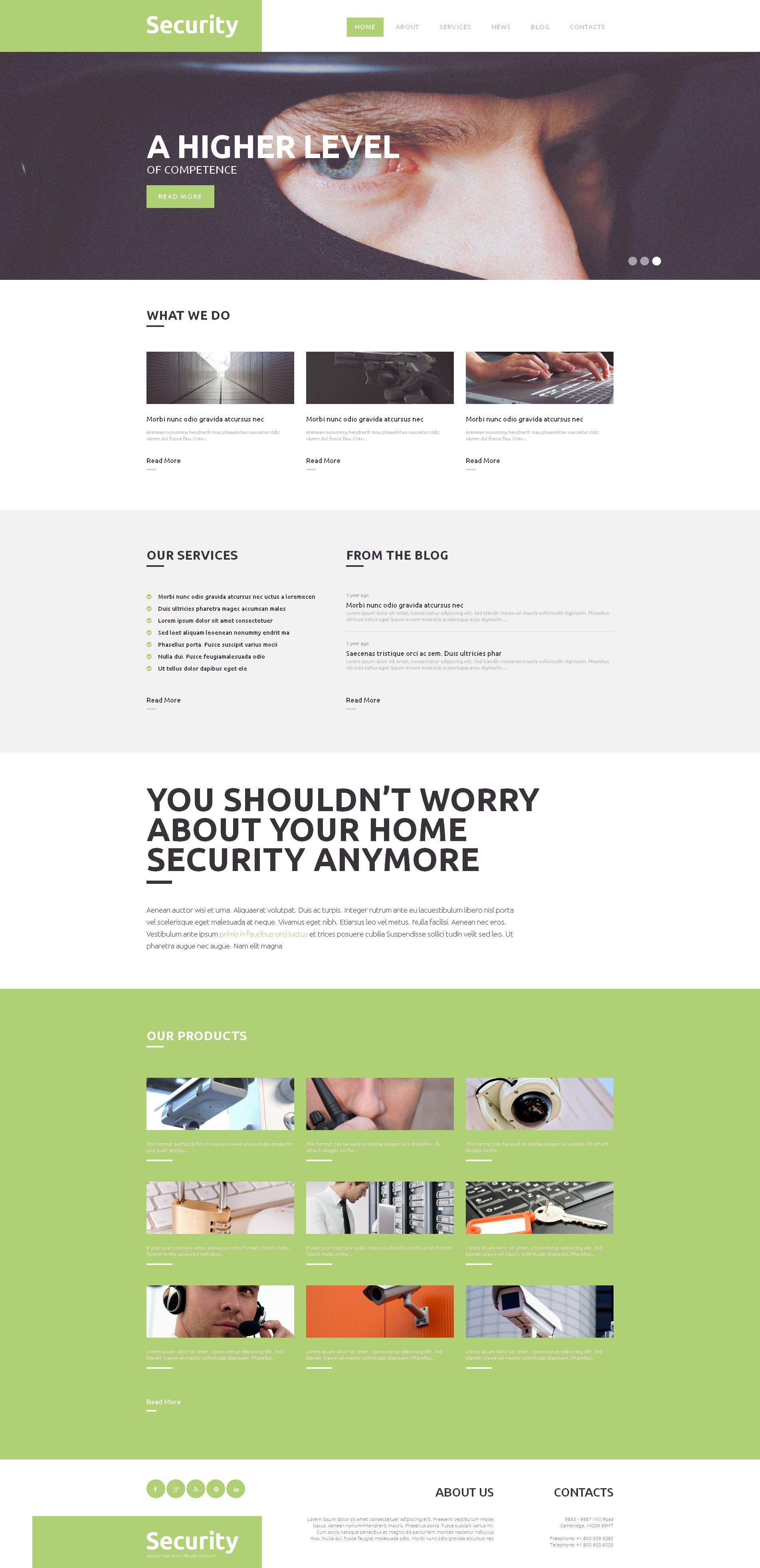 Tema De WordPress Responsive para Sitio de Cerrajeros #49249