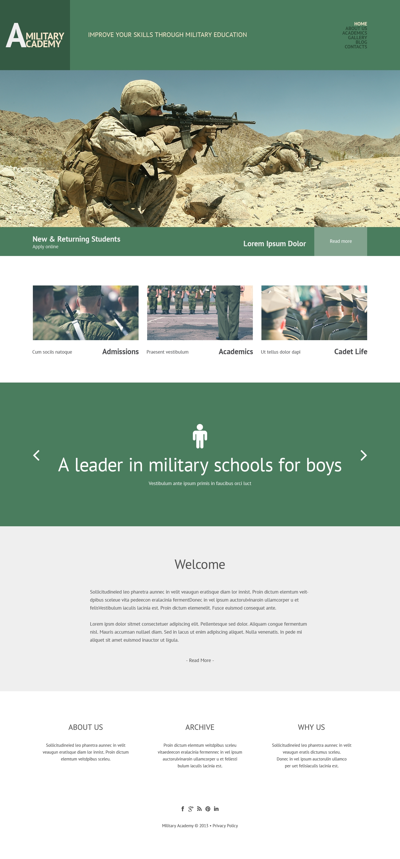 Tema De WordPress Responsive para Sitio de Ejército #49221