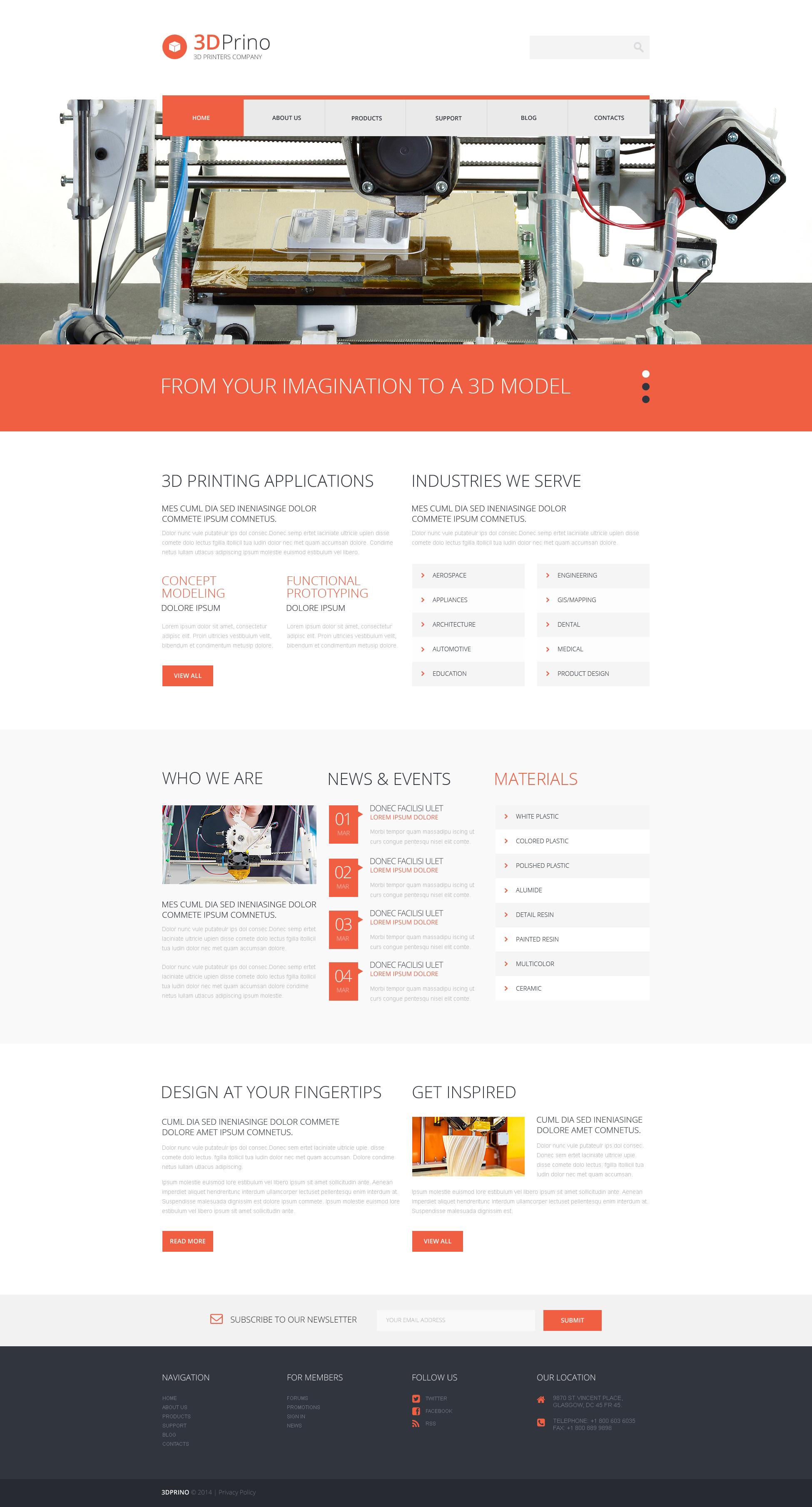 Tema De WordPress Responsive para Sitio de Tienda de Impresión #49286