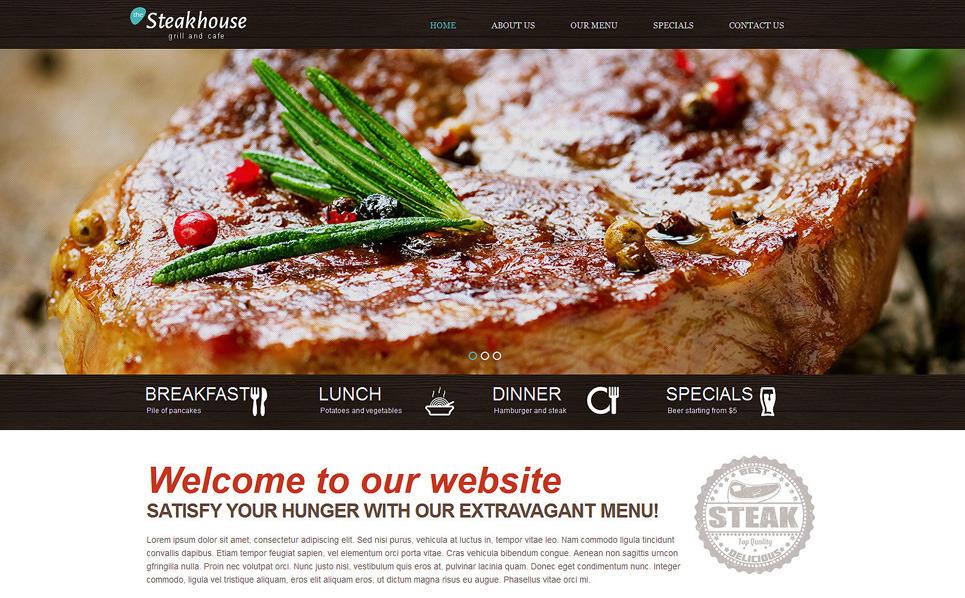 Template Web Flexível para Sites de Churrasqueira №49265 New Screenshots BIG